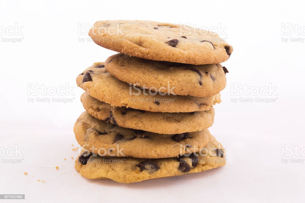 chocolate chip cookies 1 stock photo