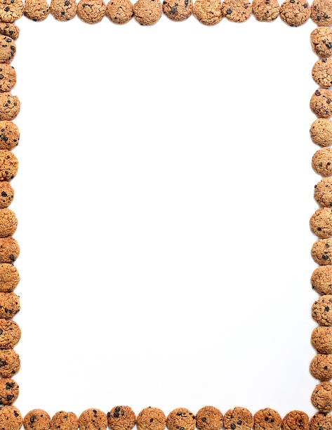 Royalty Free Frame Chocolate Chip Cookies Page Border