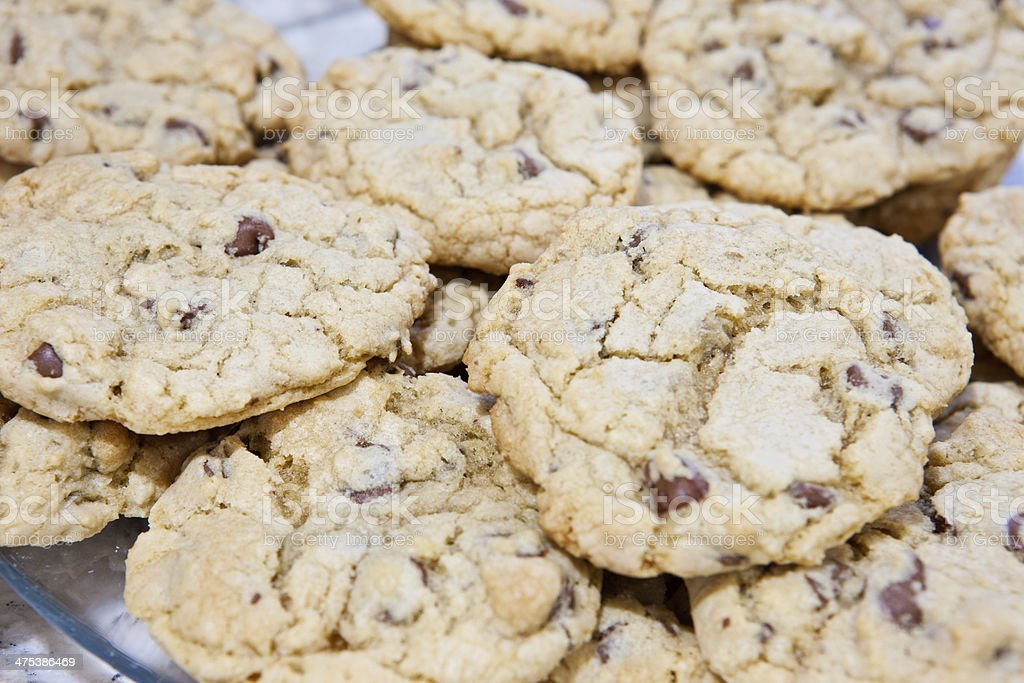 Chocolate Chip Cookies Freshly Baked royalty-free stock photo