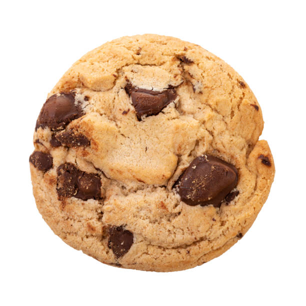 Chocolate chip cookies isolated on white background. Chocolate chip cookies isolated on white background with clipping path, Homemad cookies close up. chocolate chip cookie stock pictures, royalty-free photos & images