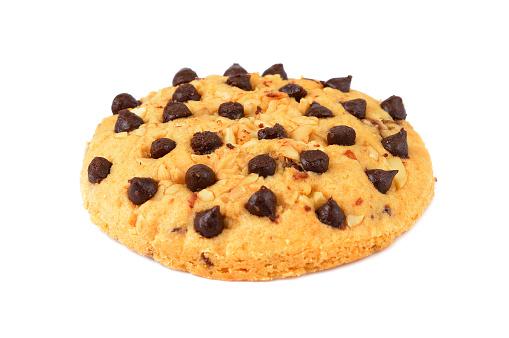 Chocolate Chip Cookies Isoliert Auf Weißem Hintergrund Stockfoto und mehr Bilder von Atelier