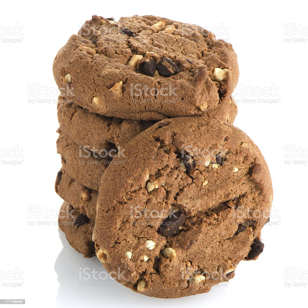 Chocolate chip cookies royalty-free stock photo