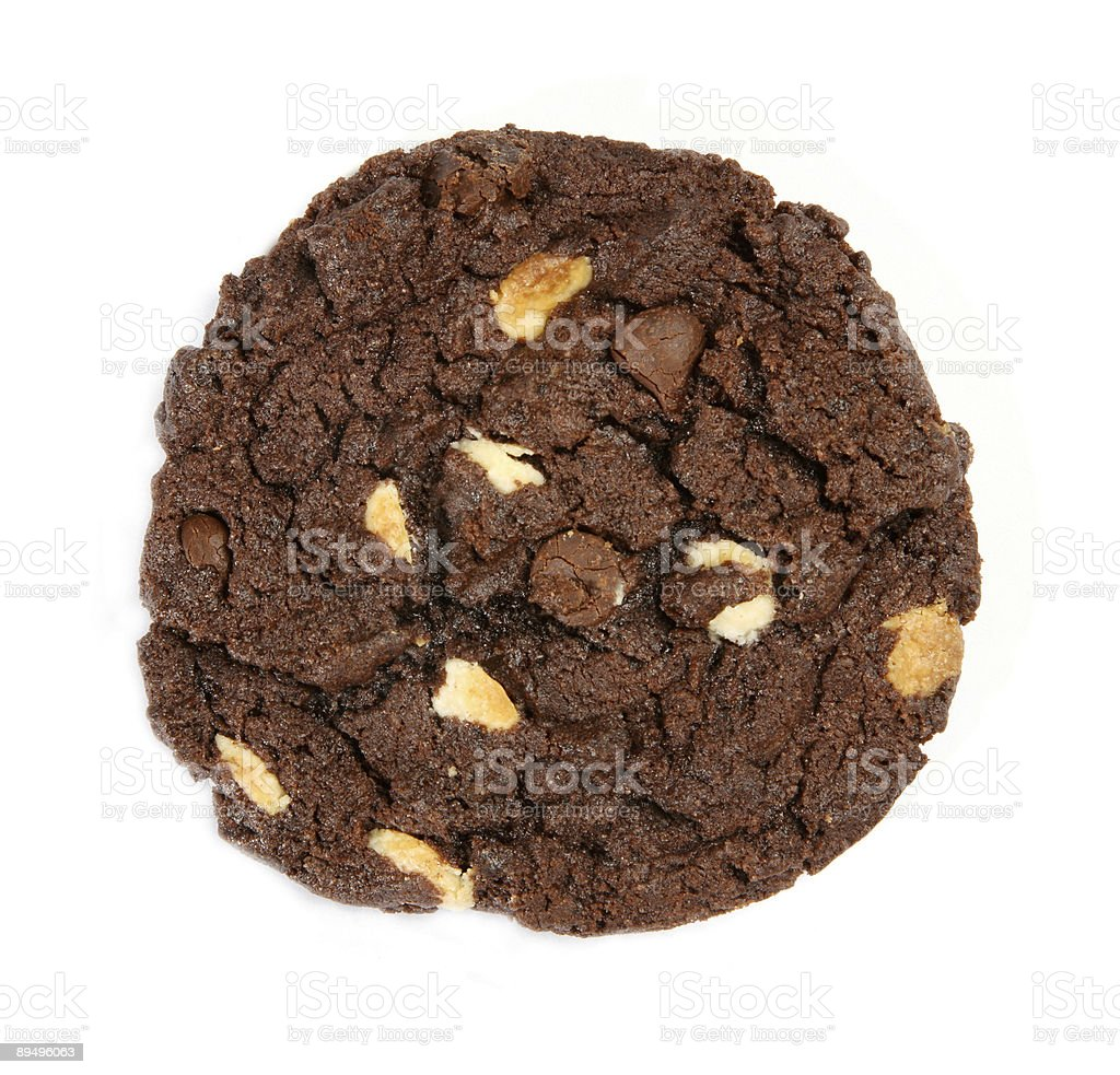 chocolate chips cookie royalty-free stock photo
