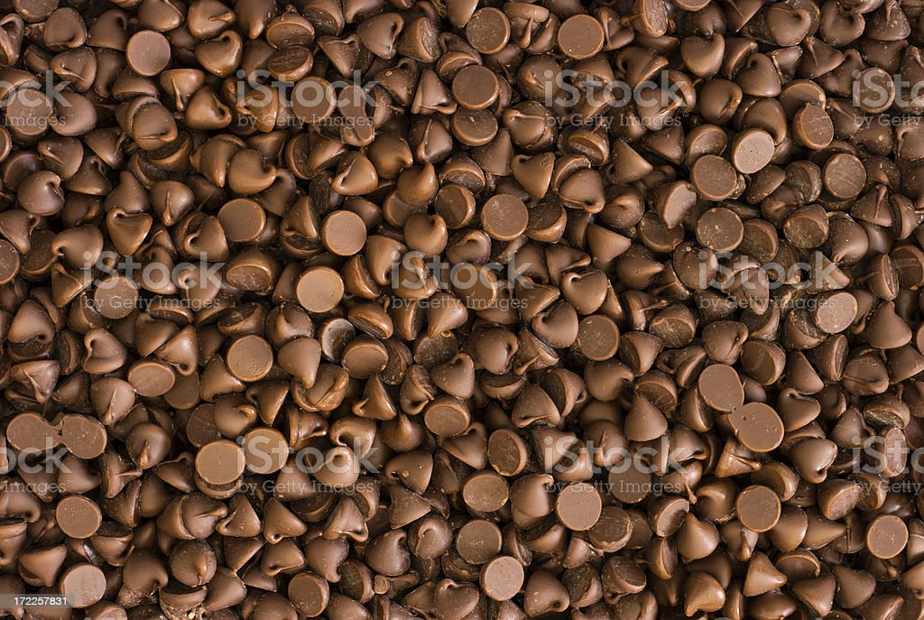 Chocolate Chips Texture royalty-free stock photo
