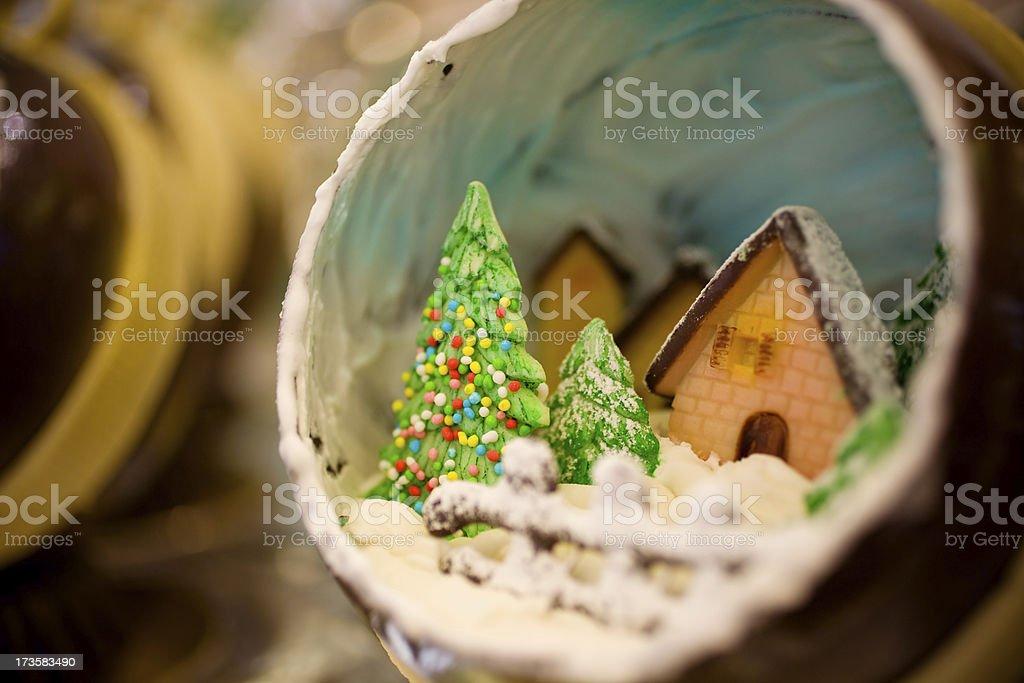 Chocolate Christmas ball royalty-free stock photo