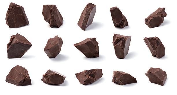 chocolate chunks - part of stock photos and pictures