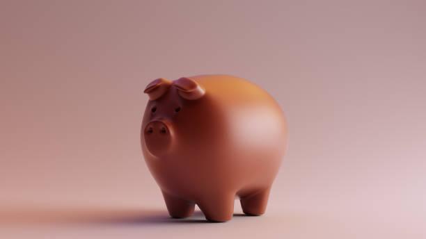 schokolade-clay-sparschwein - skulpturprojekte stock-fotos und bilder