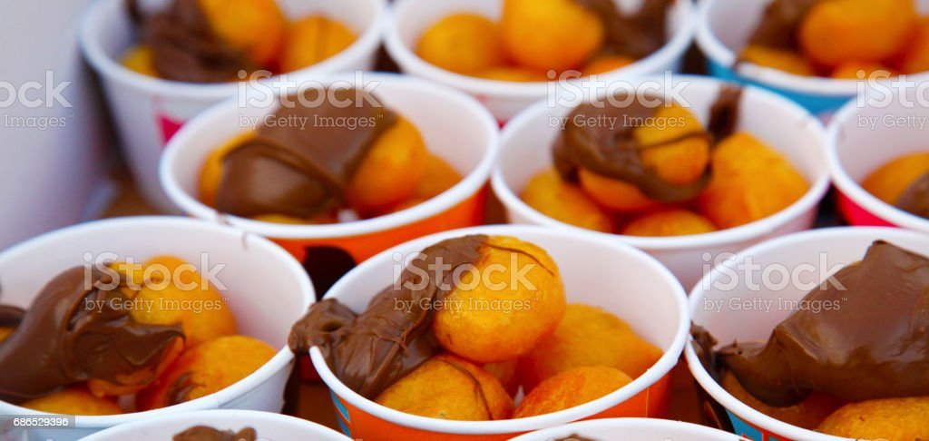 Chocolate Coated Doughnuts foto stock royalty-free