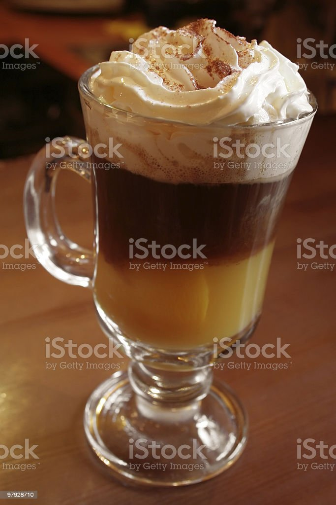 Chocolate cocktail royalty-free stock photo
