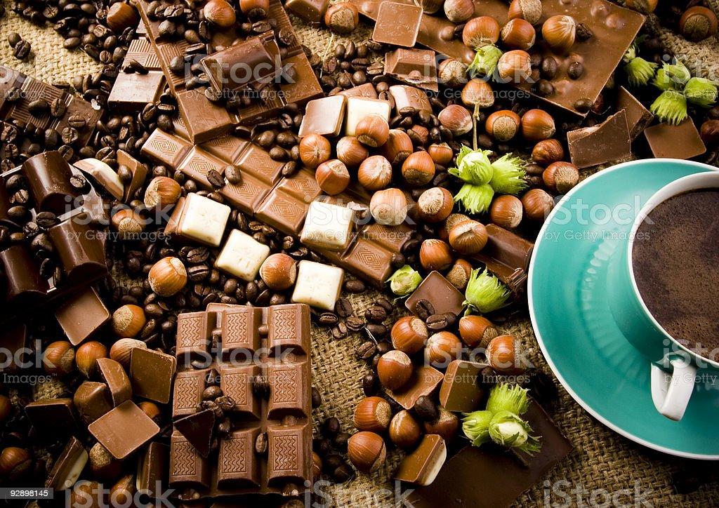 Chocolate & Coffee royalty-free stock photo