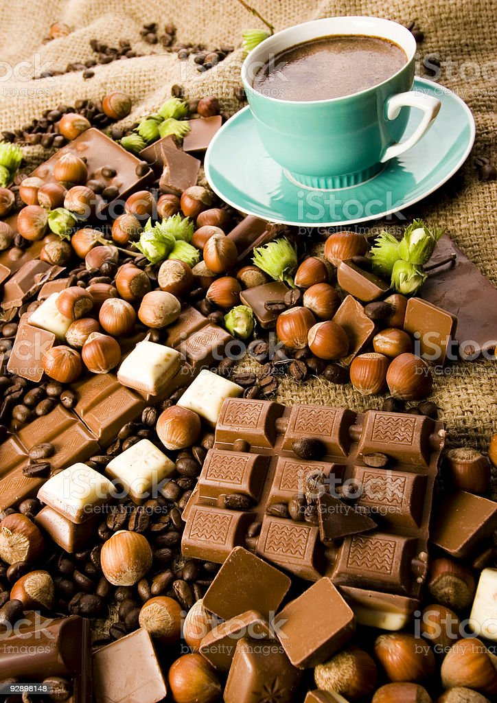 Chocolate & Coffee royalty-free stock photo