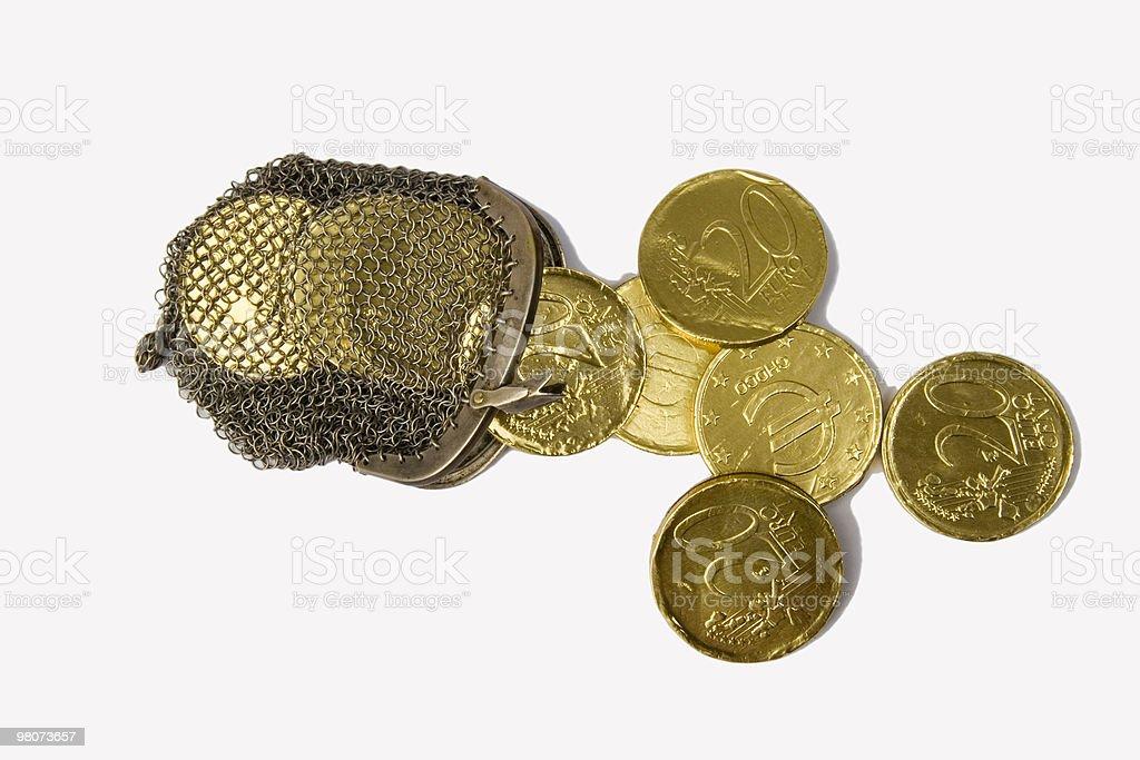 Monete di cioccolato foto stock royalty-free