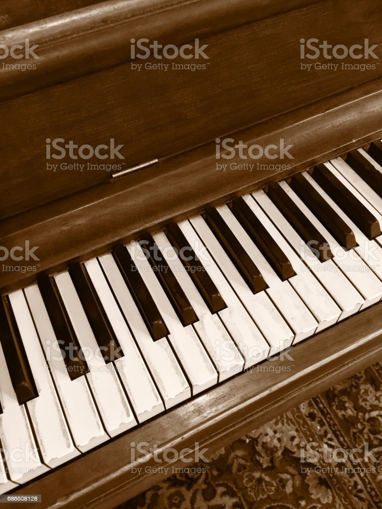 Chocolate color classical piano foto stock royalty-free