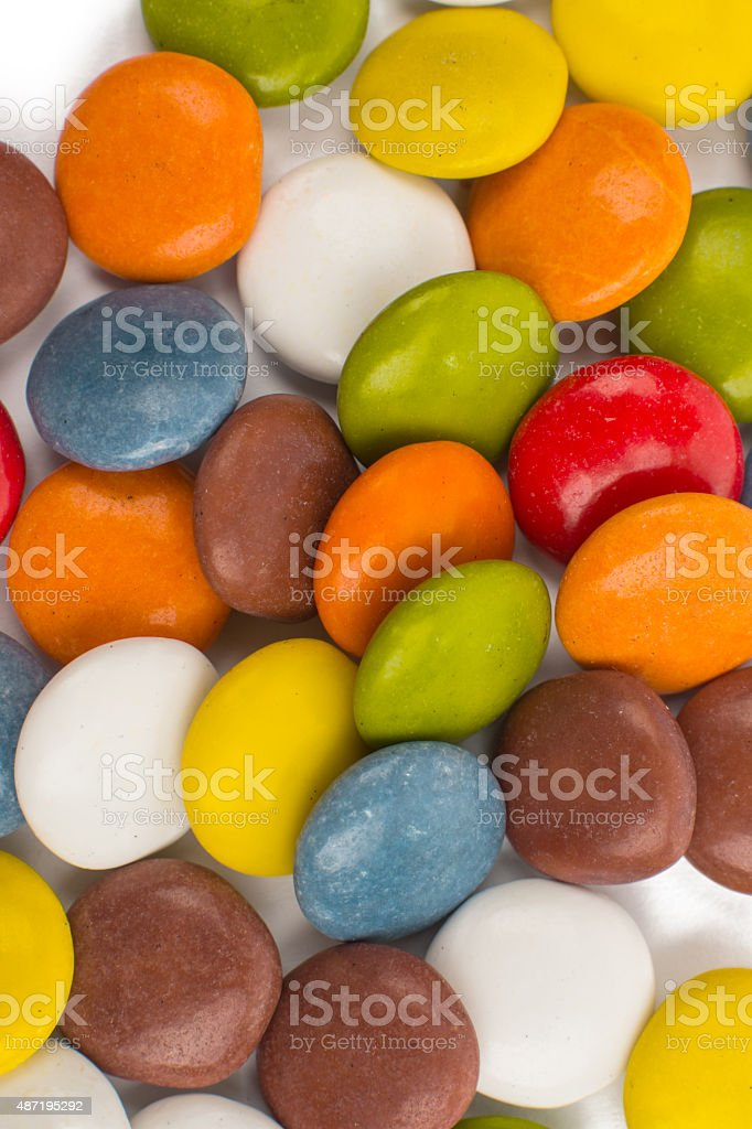 chocolate colored buttons stock photo