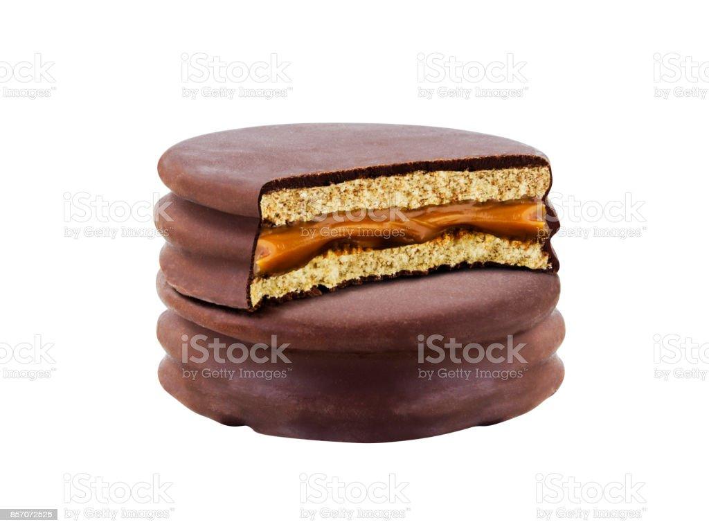 Pedacitos de chocolate - foto de stock