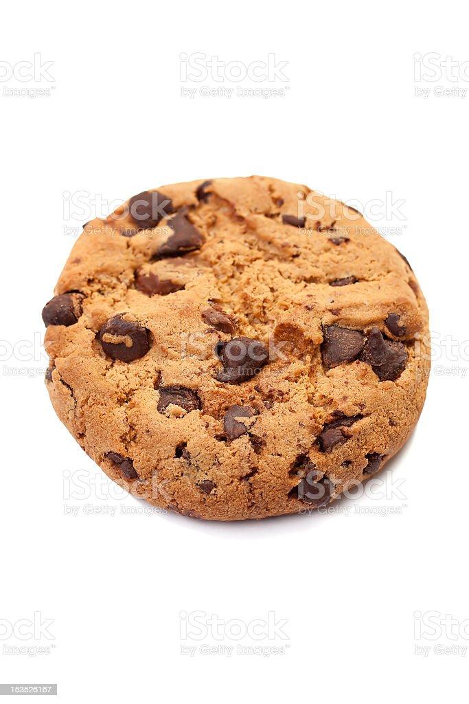 Chocolate cookie single royalty-free stock photo