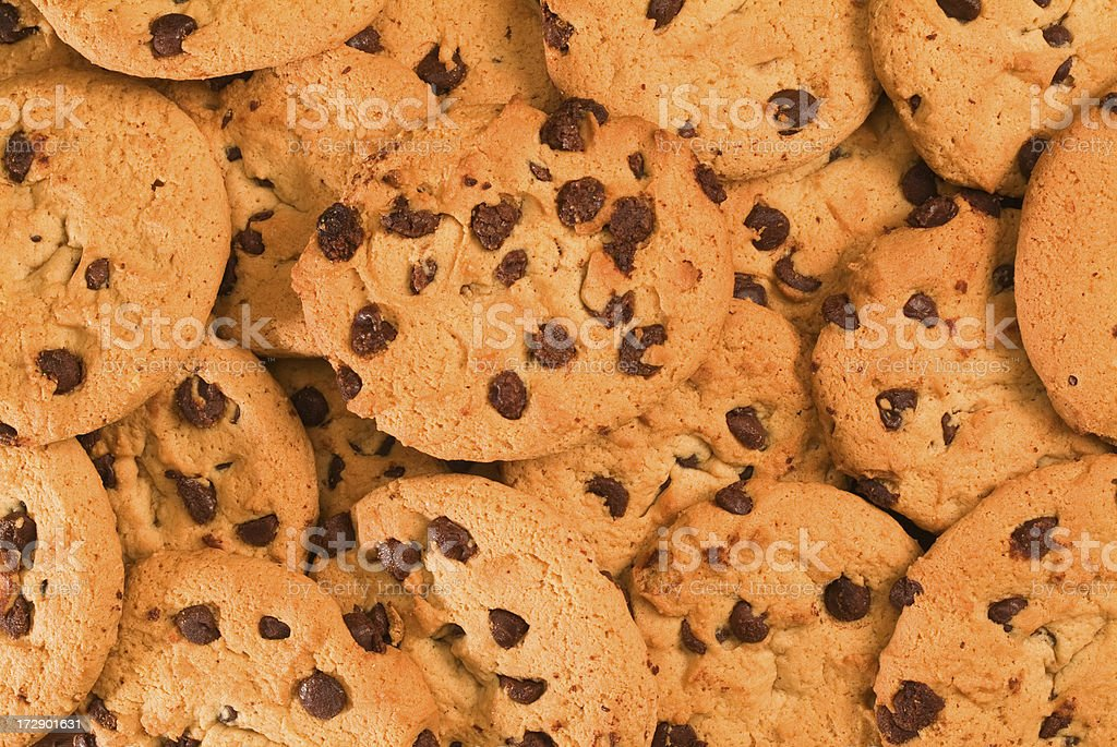 Chocolate cookies background royalty-free stock photo