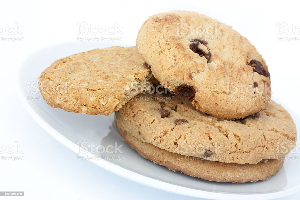 Chocolate cookies close up royalty-free stock photo