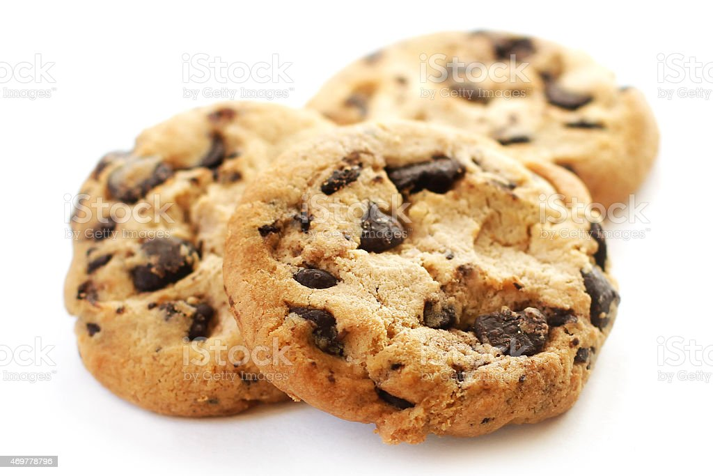 Chocolate cookies close-up stock photo