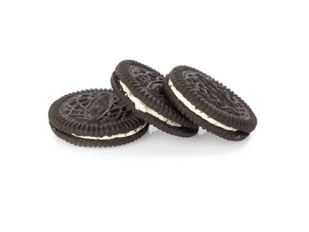 Creme de chocolate cookies. - foto de acervo