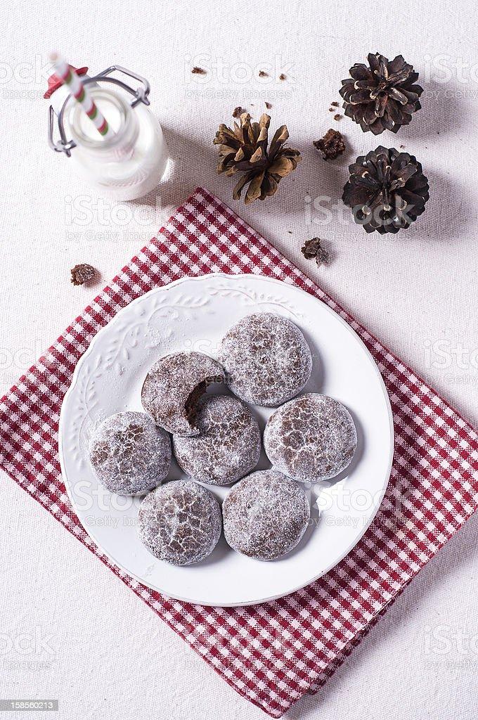 초콜릿 쿠키 royalty-free 스톡 사진