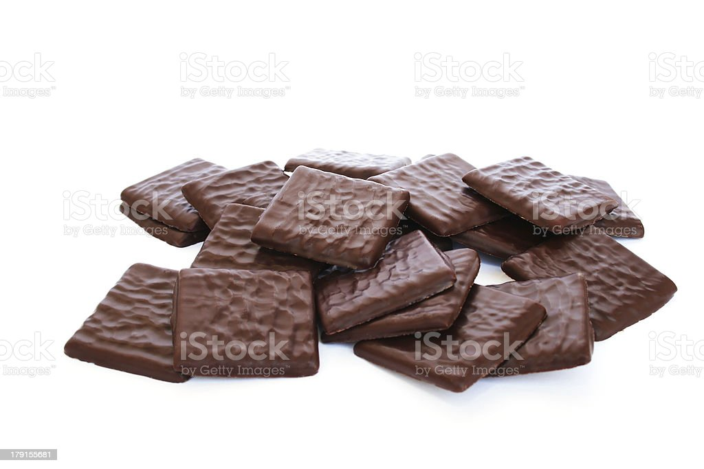 Chocolate cookies royalty-free stock photo