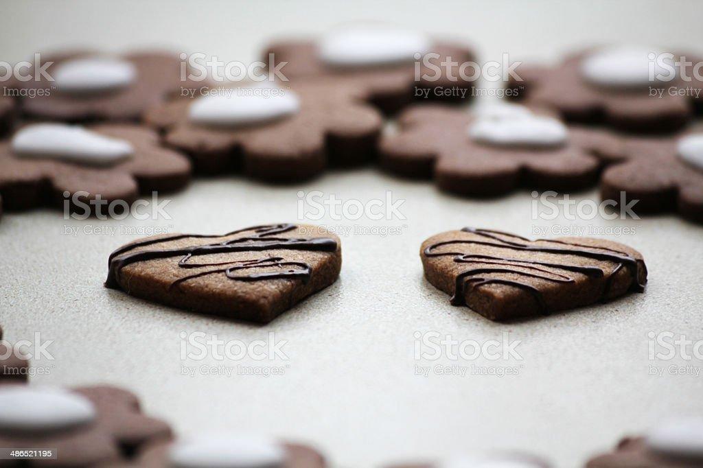 Chocolate cookies. stock photo