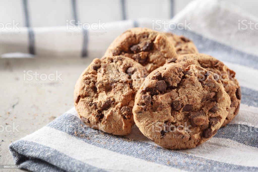 Chocolate cookies zbiór zdjęć royalty-free