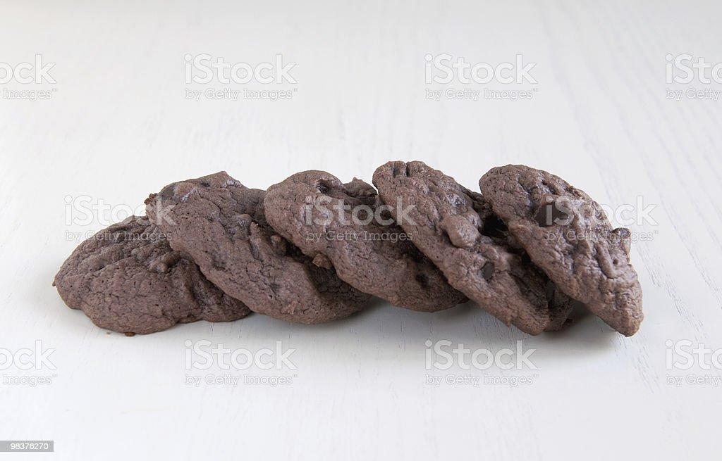 Biscotti al cioccolato foto stock royalty-free
