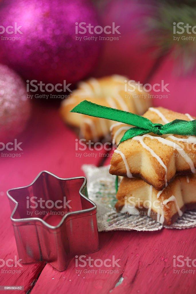 Chocolate cookies tied a green ribbon Lizenzfreies stock-foto