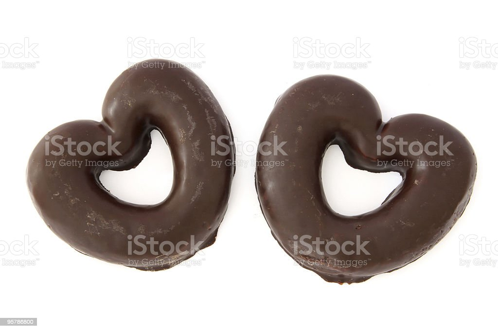 Chocolate Covered Gingerbread Hearts Stock Photo Download Image Now