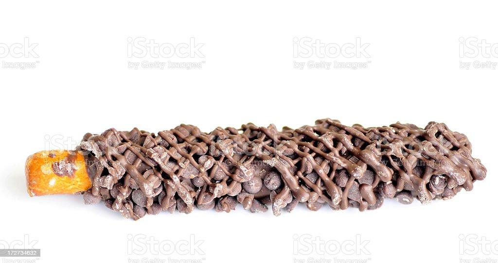 Chocolate Covered Pretzel Rod stock photo