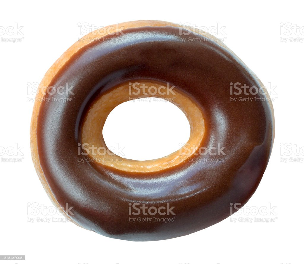 Chocolate Covered Ring Donut stock photo