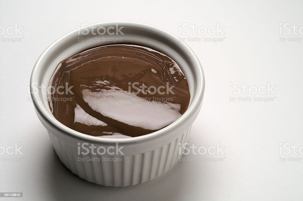 Chocolate cream cup royalty-free stock photo