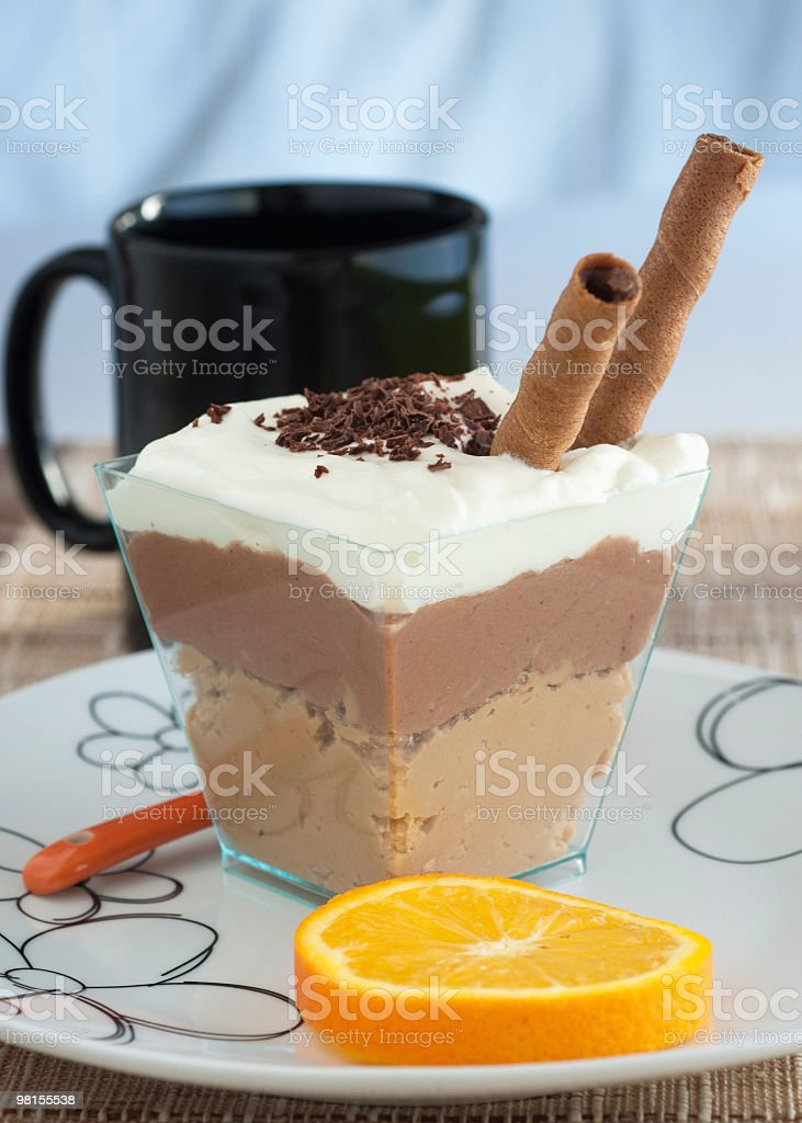Chocolate cream dessert royalty-free stock photo