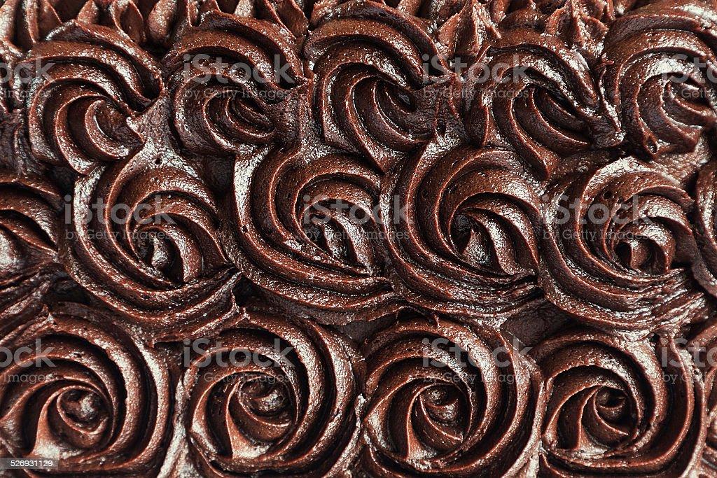 Chocolate cream swirls background stock photo