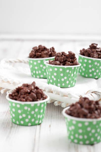 Chocolate crisps stock photo
