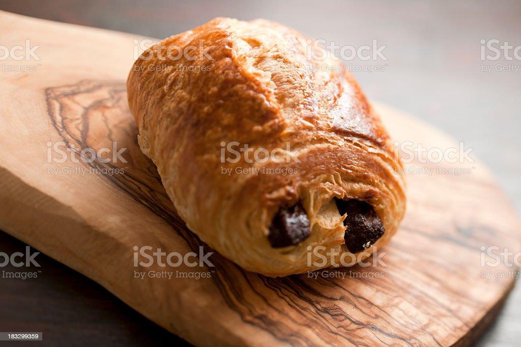 Chocolate Croissant stock photo