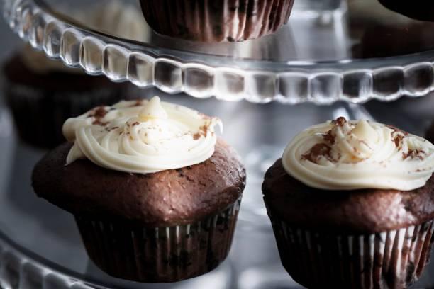 petits gâteaux au chocolat - josianne toubeix photos et images de collection