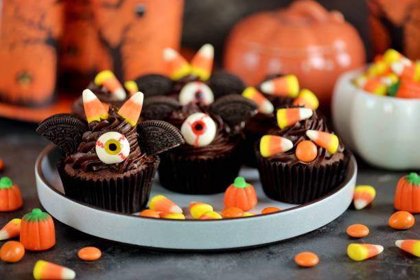 "Chocolate cupcakes ""bats"" stock photo"
