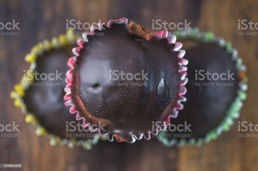 Chocolate Cup-Cakes stock photo