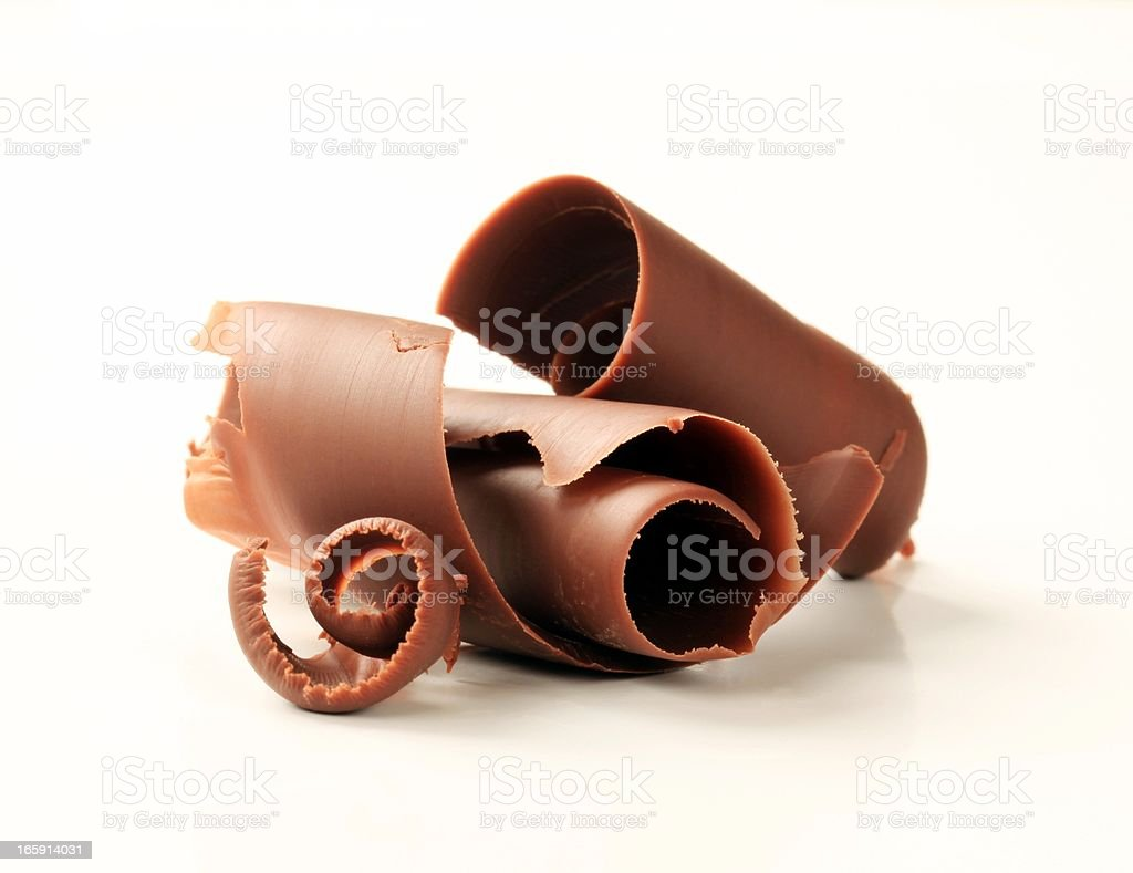 Chocolate curls royalty-free stock photo