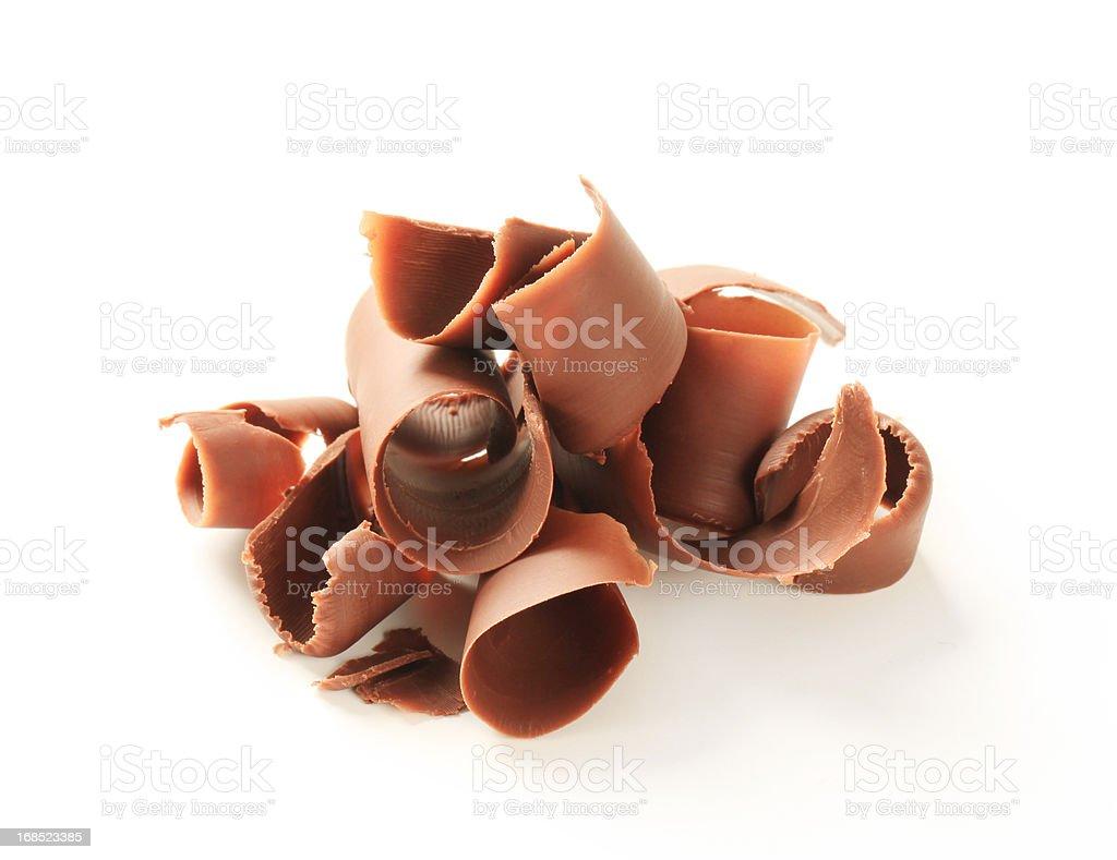 Chocolate curls royalty-free stock photo