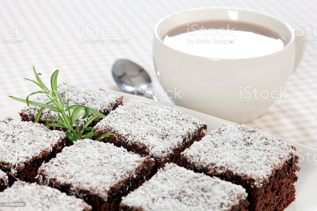 Chocolate dessert  and Cocoa royalty-free stock photo