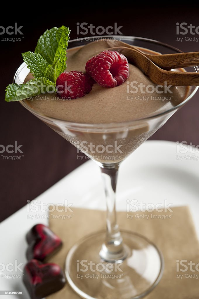 Chocolate Dessert for Two stock photo