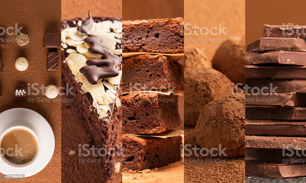 Chocolate desserts stock photo