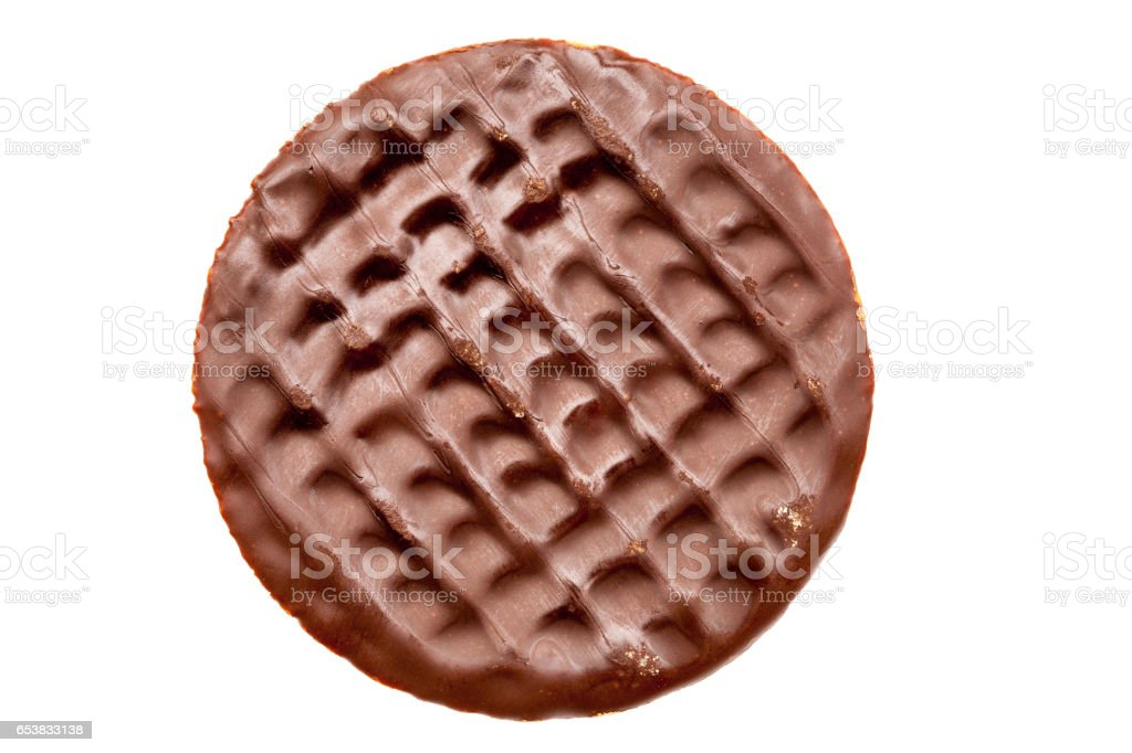 Chocolate digestive biscuit stock photo