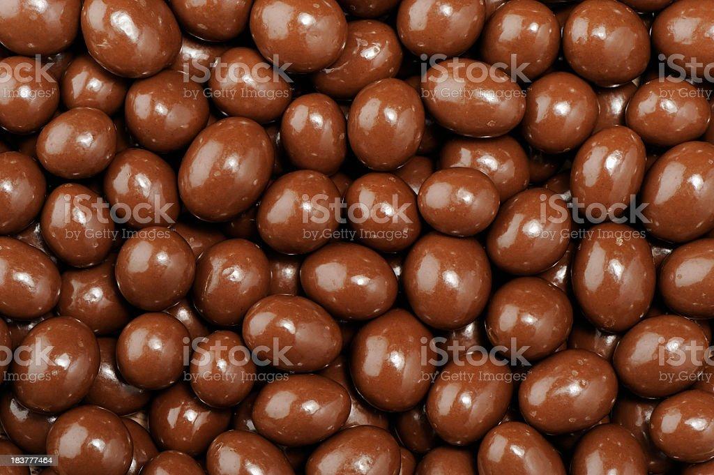 Chocolate dipped peanuts pattern stock photo