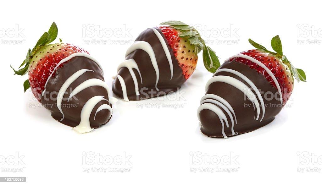 Chocolate dipped strawberries stock photo