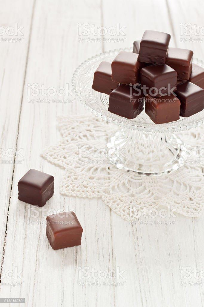 Chocolate dominos stock photo
